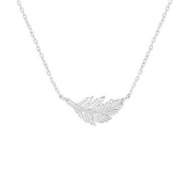 Karma Silver Leaf Necklace  - Click to view larger image