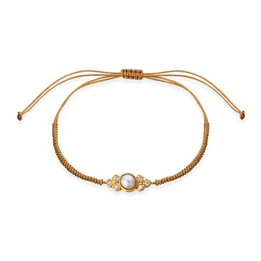 Karma Gold Pearl Pull Bracelet  - Click to view larger image