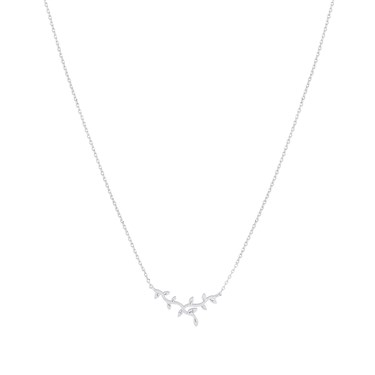 Karma Silver Vines Necklace  - Click to view larger image