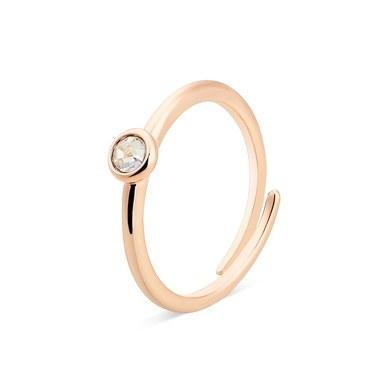 Karma Rose Gold April Adjustable Ring  - Click to view larger image