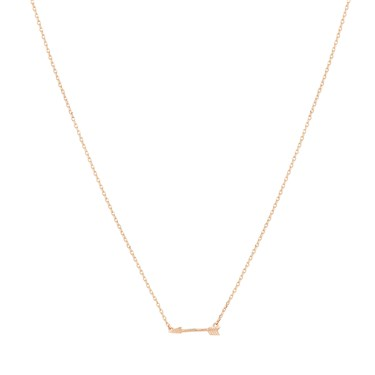 Karma Rose Gold Arrow Necklace  - Click to view larger image