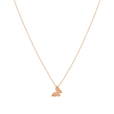 Karma Rose Gold Butterfly Necklace  - Click to view larger image