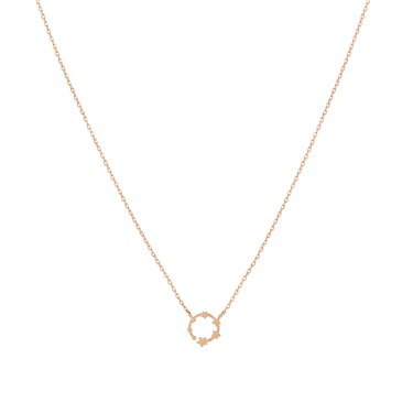 Karma Rose Gold Circle of Stars Necklace  - Click to view larger image