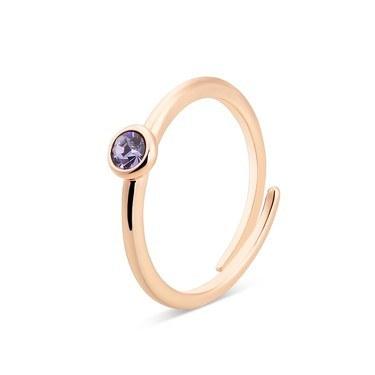 Karma Rose Gold December Adjustable Ring  - Click to view larger image