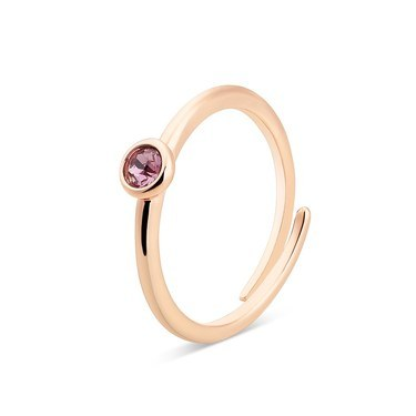 Karma Rose Gold February Adjustable Ring  - Click to view larger image