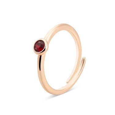 Karma Rose Gold January Adjustable Ring  - Click to view larger image