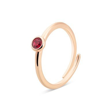 Karma Rose Gold July Adjustable Ring  - Click to view larger image