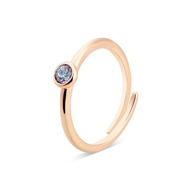 Karma Rose Gold June Adjustable Ring  - Click to view larger image