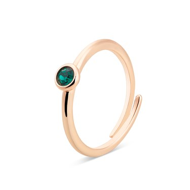 Karma Rose Gold May Adjustable Ring  - Click to view larger image
