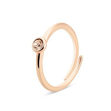 Karma Rose Gold November Adjustable Ring  - Click to view larger image
