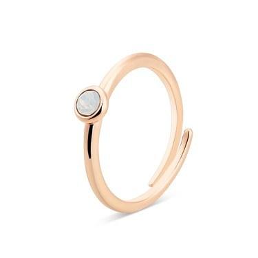Karma Rose Gold October Adjustable Ring  - Click to view larger image