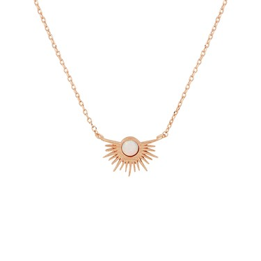 Karma Rose Gold Opal Rays Necklace  - Click to view larger image