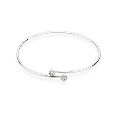 Karma Silver August Wrap Bangle  - Click to view larger image