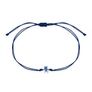 Karma Blue Crystal Pull Bracelet  - Click to view larger image
