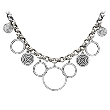 Karma Crystal Circle Necklace