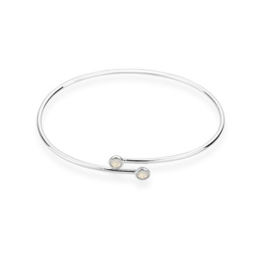 Karma Silver October Wrap Bangle  - Click to view larger image