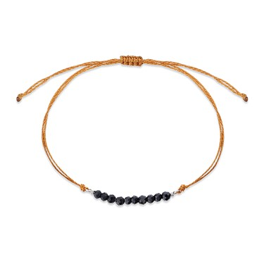 Karma Black & Orange Pull Bracelet  - Click to view larger image