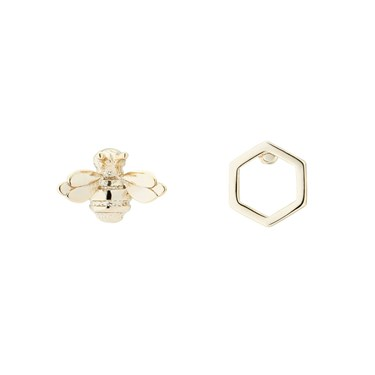 Ted Baker Bellema Brushed Gold Bumble Bee Stud Earring  - Click to view larger image