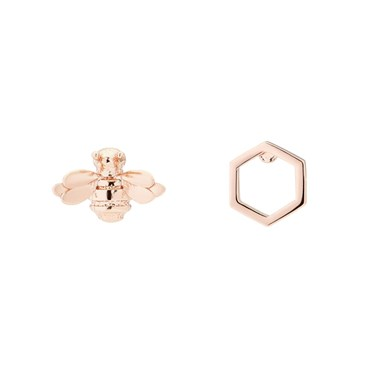 Ted Baker Bellema Brushed Rose Gold Bumble Bee Stud Earring  - Click to view larger image