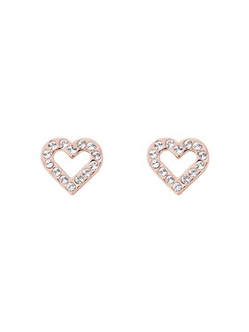 Ted Baker Edesiah Rose Gold Crystal Heart Stud Earring  - Click to view larger image