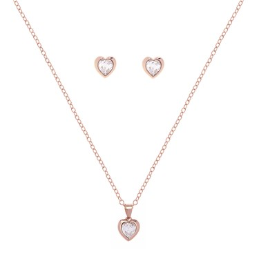 Ted Baker Rose Gold Hadeya Heart Gift Set  - Click to view larger image