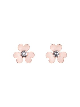 Ted Baker Rose Gold Heart Blossom Earrings  - Click to view larger image