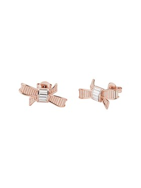 Ted Baker Dameka Rose Gold Ribbon Bow Stud Earring  - Click to view larger image