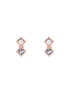 Ted Baker Eliora Rose Gold Princess Sparkle Crystal Stud Earring  - Click to view larger image