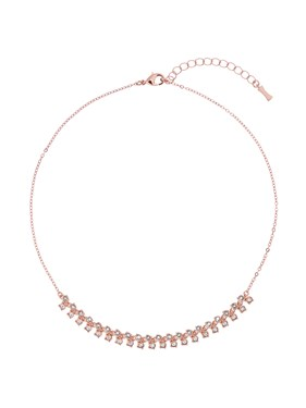Ted Baker Eada Rose Gold Princess Sparkle Crystal Necklace  - Click to view larger image