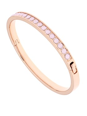Ted Baker Clemara Rose Gold Rose Water Opal Hinge Bangle  - Click to view larger image