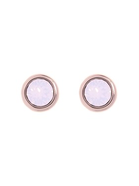 Ted Baker Sinaa Rose Gold Swarovski Crystal Stud Earring  - Click to view larger image