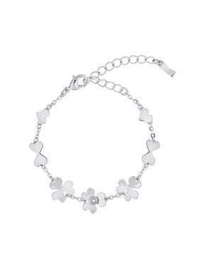 Ted Baker Harpria Silver Heart Blossom Crystal Bracelet  - Click to view larger image