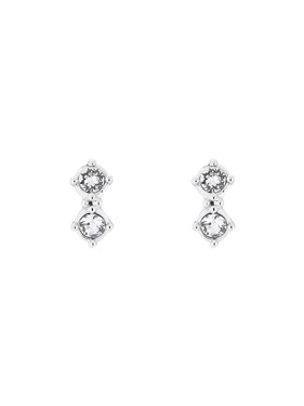 Ted Baker Eliora Silver Princess Sparkle Crystal Stud Earring  - Click to view larger image