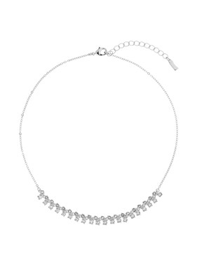 Ted Baker Eada Silver Princess Sparkle Crystal Necklace  - Click to view larger image