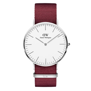 Daniel Wellington Roselyn White 40mm Silver Watch  - Click to view larger image