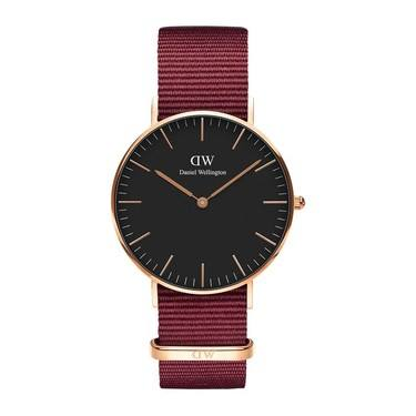 Daniel Wellington Roselyn Black 36mm Rose Gold Watch  - Click to view larger image