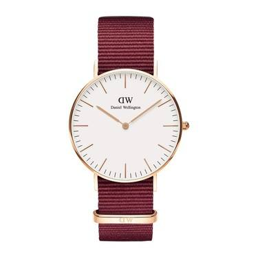 Daniel Wellington Roselyn white 36mm Rose Gold Watch  - Click to view larger image