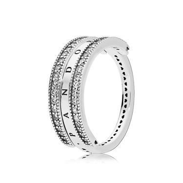 Pandora Flipping Hearts of PANDORA Ring  - Click to view larger image