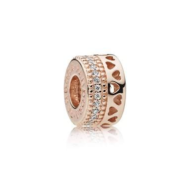 Pandora Rose Hearts Spacer  - Click to view larger image