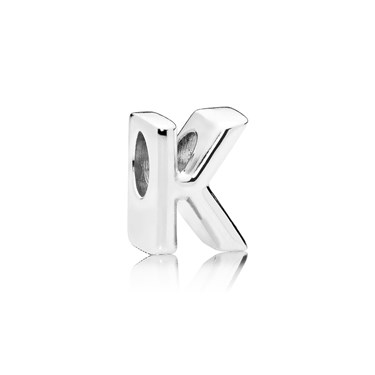 Pandora Letter K Charm  - Click to view larger image