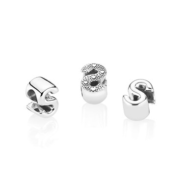 Pandora Letter S Charm  - Click to view larger image