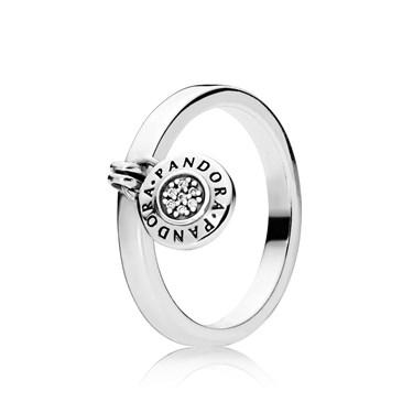 Pandora Silver Logo Padlock Ring  - Click to view larger image