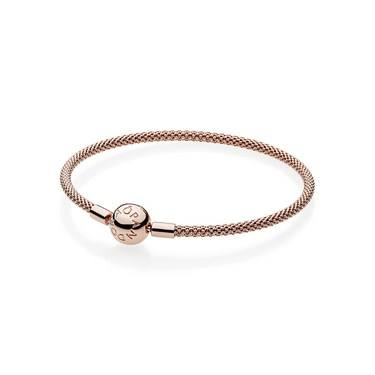 Pandora Moments Rose Mesh Bracelet  - Click to view larger image