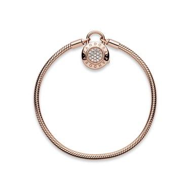 PANDORA Rose Moments Padlock Clasp Bracelet  - Click to view larger image