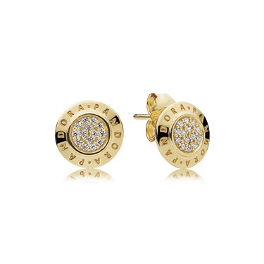 Pandora Shine Logo Stud Earrings  - Click to view larger image