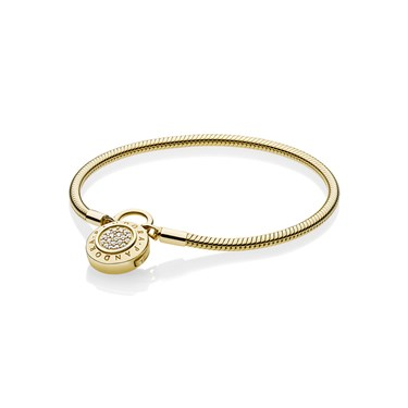 Pandora Shine Moments Padlock Clasp Bracelet  - Click to view larger image