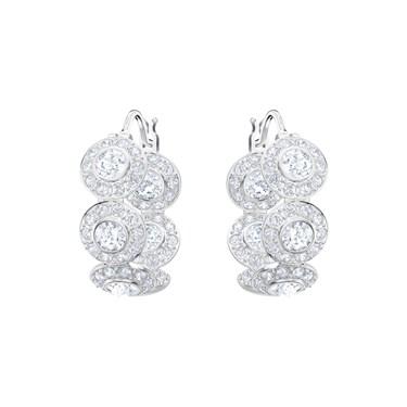 Swarovski Angelic Rhodium Hoop Earrings  - Click to view larger image