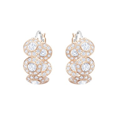 Swarovski Angelic Rose Gold Hoop Earrings  - Click to view larger image