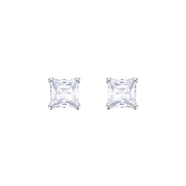 Swarovski Attract Rhodium Earrings  - Click to view larger image