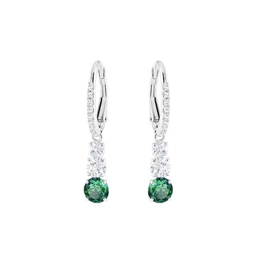 Swarovski Attract Trilogy Green Earrings  - Click to view larger image